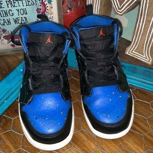 Nike Air Jordan AJ 1 mid royal toddler boy 10c